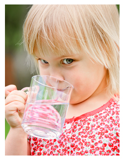 Sandiwich Water District | Town Of Sandwich, Cape Cod, Massachusetts | Water Supply Info | cute young girl drinking water from glass cup
