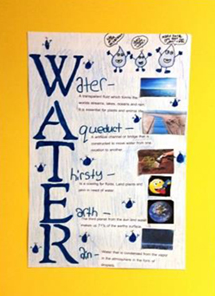Town of Sandwich Water District, Water Education Contest for local elementary schools, 3rd place winner